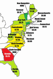 Georgia Gas Rates >> 2015 Minimum Wage Rates By State | The Korean Accountant