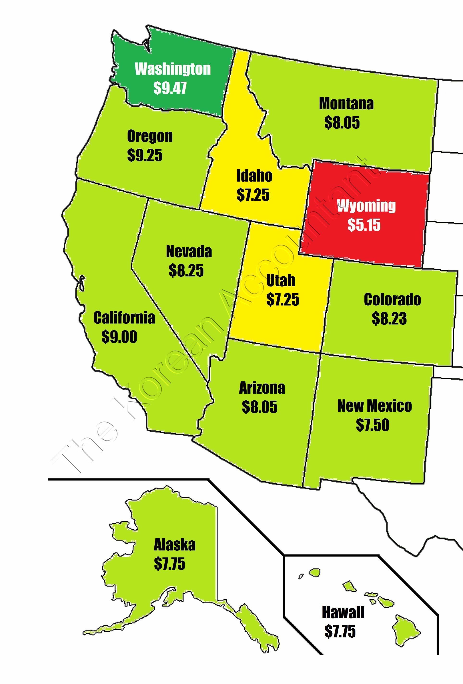 2015 Minimum Wage Rates By State | The Korean Accountant