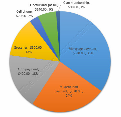 My expenses pie chart