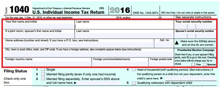 Understanding The 1040 Individual Tax Return The Korean Accountant