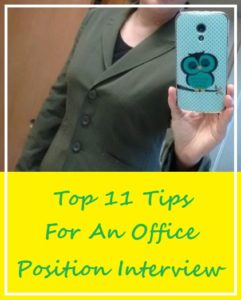 Top 11 Tips For An Office Position Interview feature image
