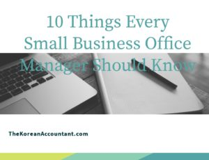 10 things small business office managers should know